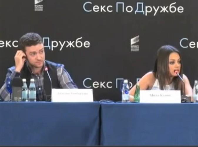Mila Kunis : elle parle russe pour défendre Justin Timberlake !