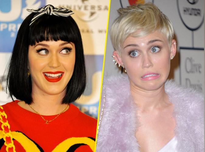 """Miley Cyrus : elle répond à Katy Perry : """"Ma langue n'est pas pire que celle de ton ex"""" !"""