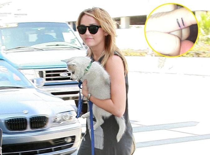 Miley Cyrus : un nouveau petit tatouage qui fait beaucoup de bruit !