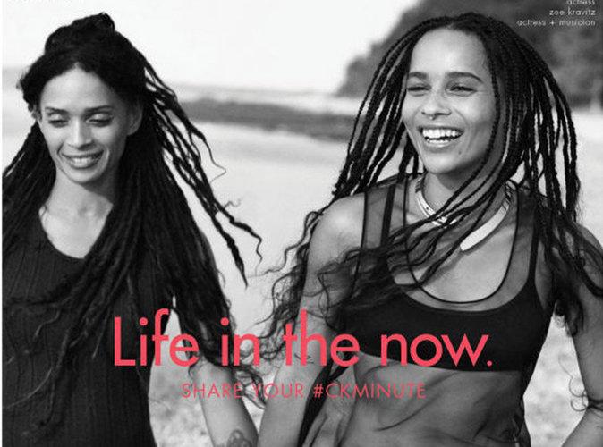 News Look : Zoé Kravitz et Lisa Bonet en famille pour la nouvelle campagne Calvin Klein