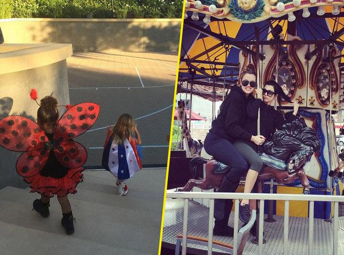 North West fête toujours Halloween, Khloe et Kourtney Kardashian s'éclatent entre soeurs !