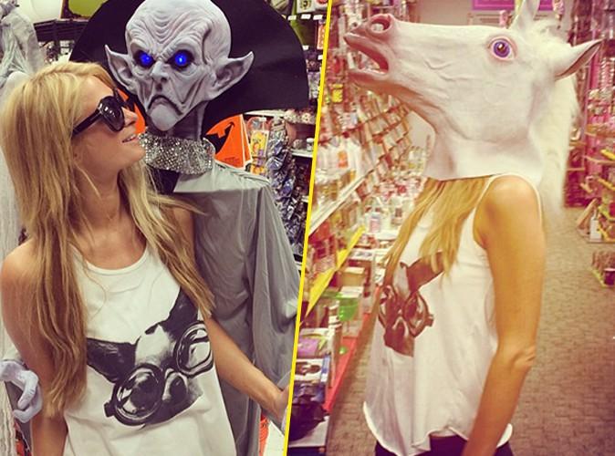 Paris Hilton : pour Halloween, elle hésite entre la licorne et l'extraterrestre !