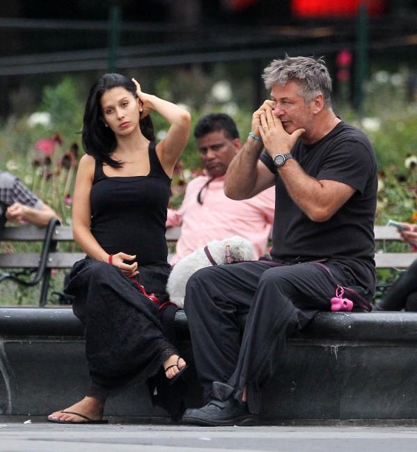 Alec Baldwin et sa femme à New York, le 26 août 2013