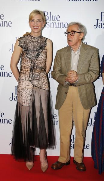 Cate Blanchett et Woody Allen, le 27 août 2013 à Paris