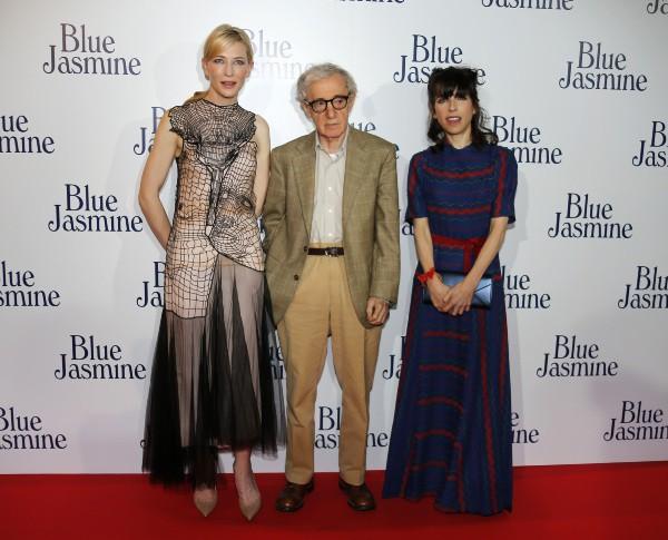 Cate Blanchett, Woody Allen et Sally Hawkins, le 27 août 2013 à Paris