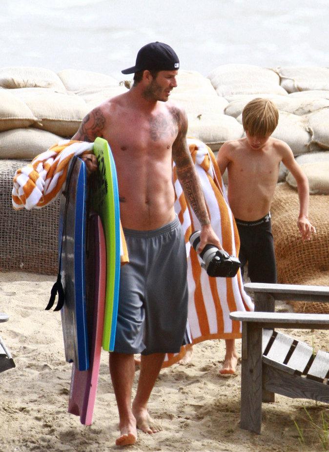 David Beckham à la plage