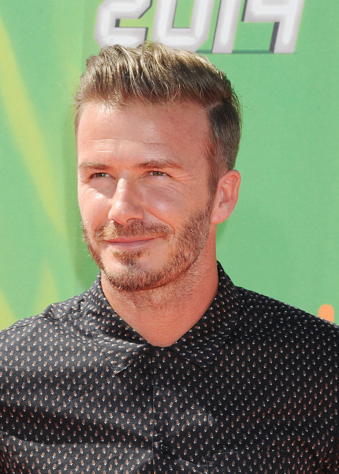 David Beckham au People au Nickelodeon Kid's Choice Sports Awards