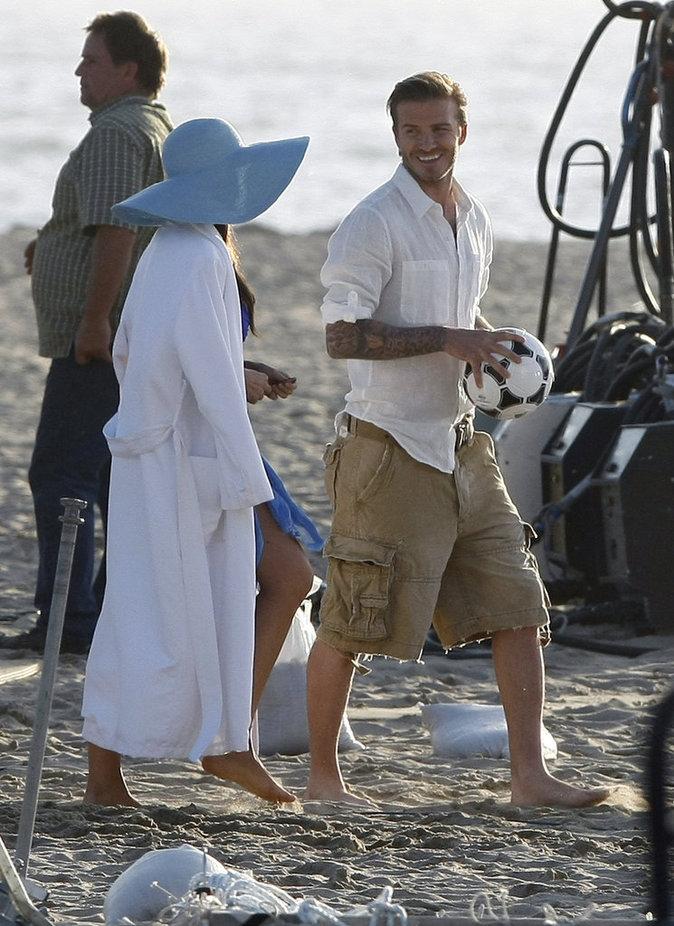 David Beckham avec sofia vergara pour le spot publicitaire de la marque Pepsi