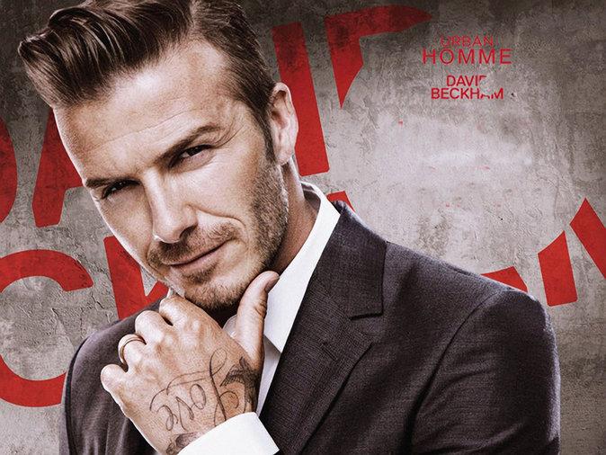 David Beckham pose pour son nouveau parfum Urban Homme