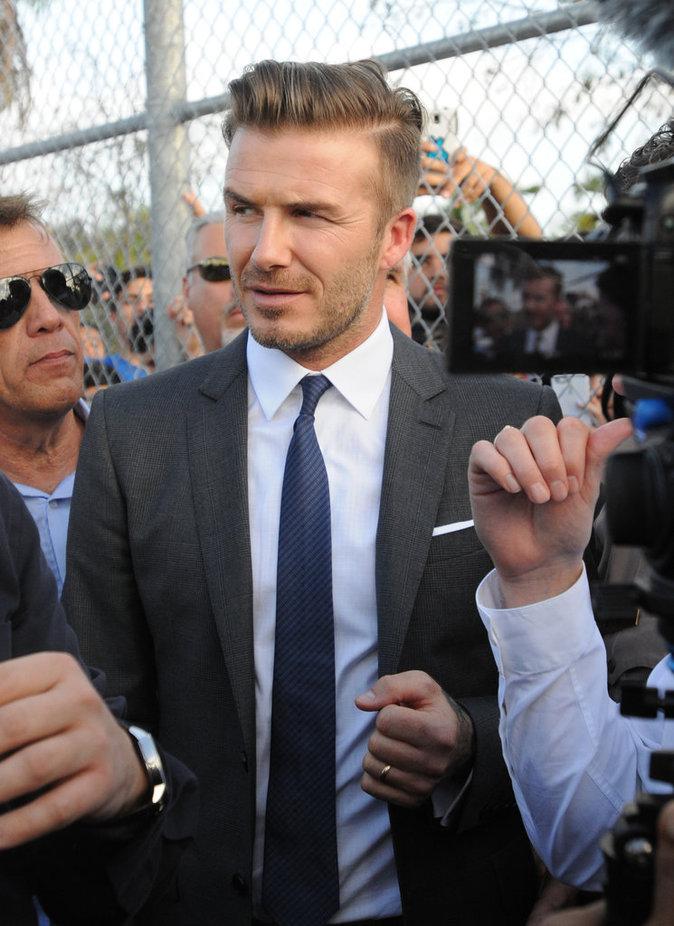 David Beckham rencontre ses fans à Miami