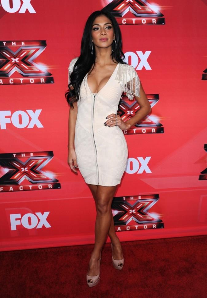 Nicole Scherzinger lors de la conférence de presse du X-Factor US à Los Angeles, le 19 décembre 2011.