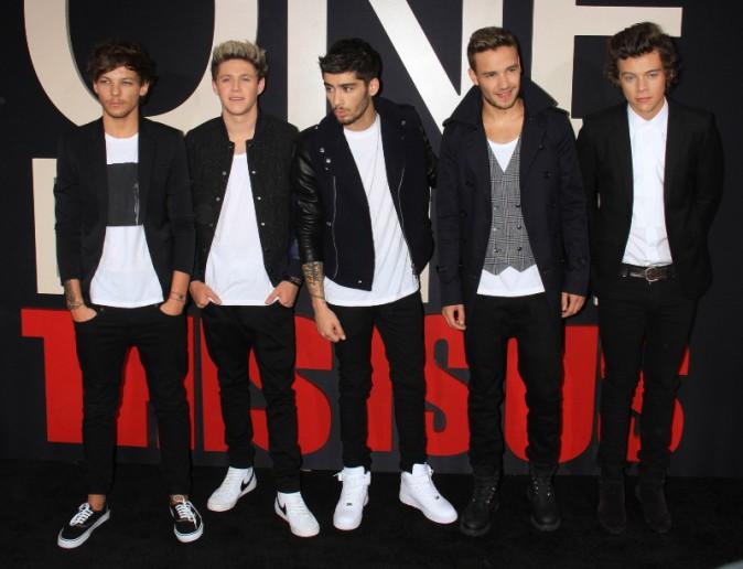 Les One Direction de passage à New York pour l'avant-première de leur film, le 26 août 2013