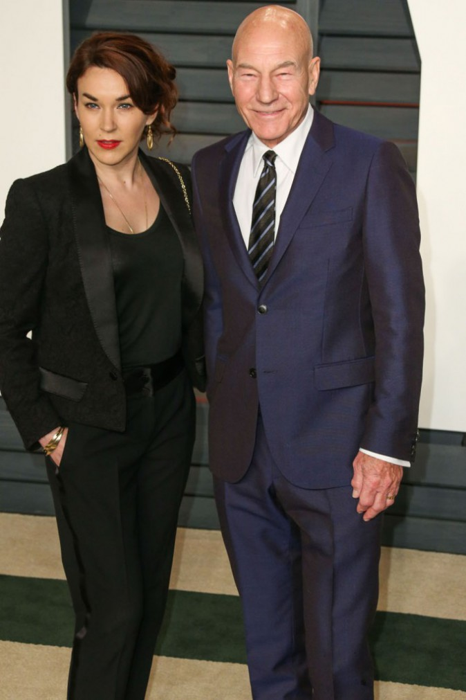 Sunny Ozell et Patrick Stewart