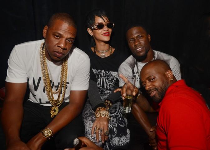 Rihanna en mode party girl avec Jay-Z à Miami le 16 août 2013