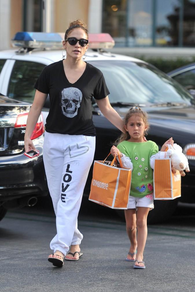 Jennifer Lopez et sa fille, shopping de rentrée