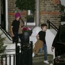 Romeo et Cruz Beckham à Londres, le 22 novembre 2012.
