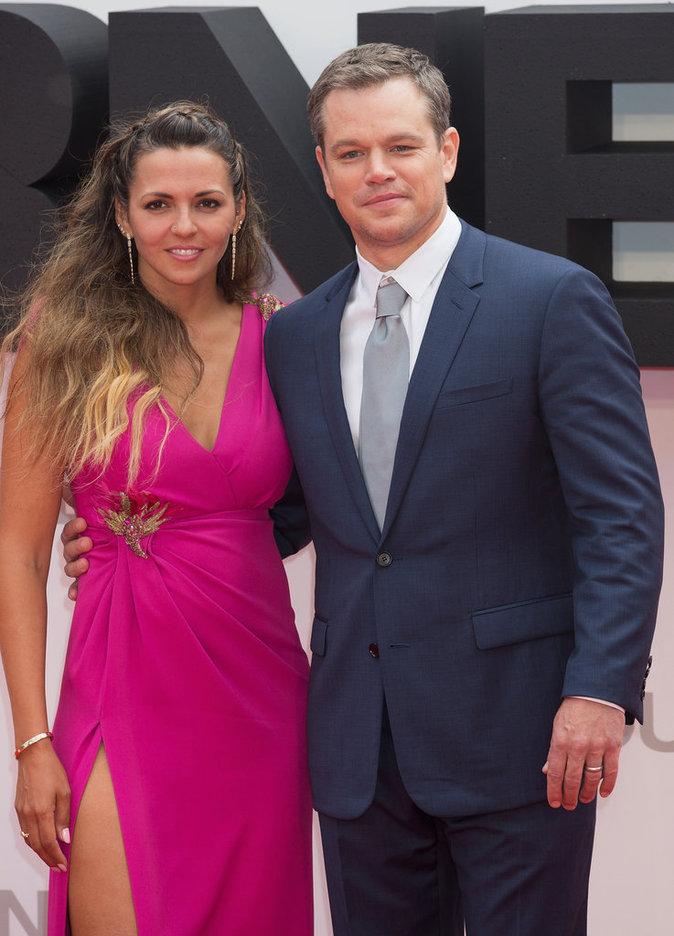 Matt Damon et sa compagne