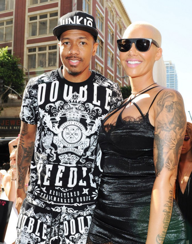 Amber Rose et Nick Cannon (ami et manager)