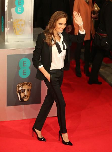 Angelina Jolie lors de la cérémonie des BAFTA Awards à Londres, le 16 février 2014.