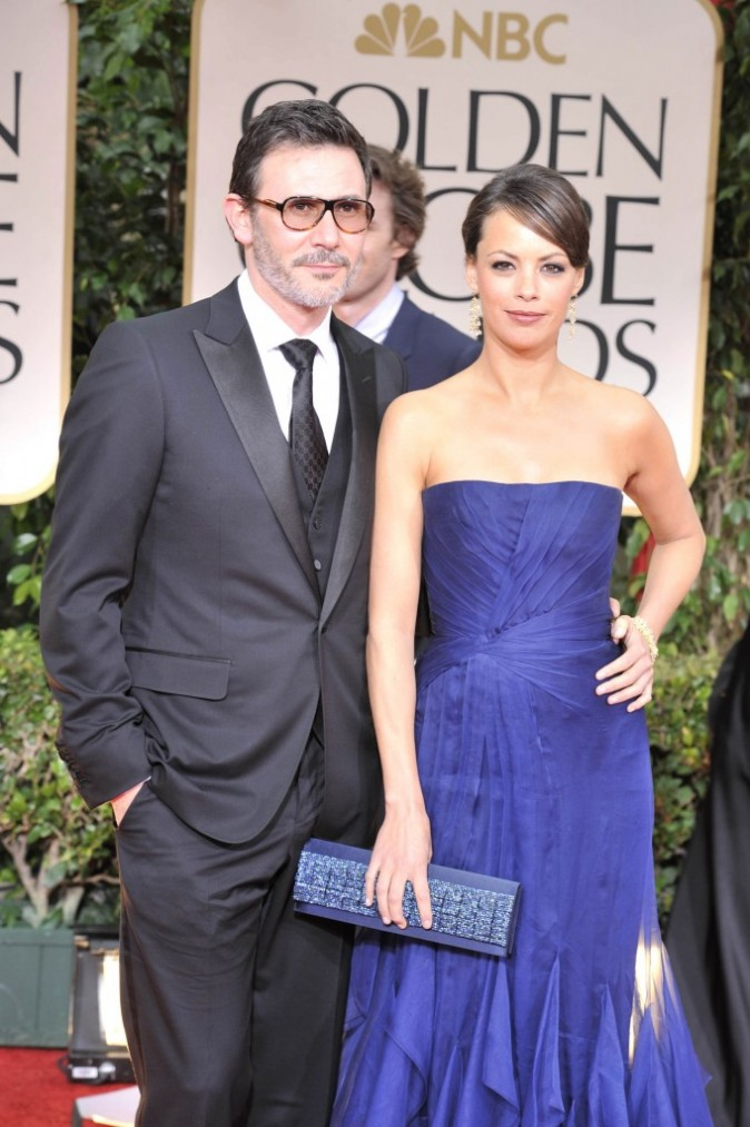 Bérénice Bejo et Michel Hazanavicius à la cérémonie des Golden Globe