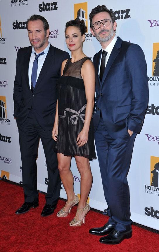 Bérénice Bejo, Jean Dujardin et Michel Hazanavicius à la cérémonie des Hollywood Film Festival Awards