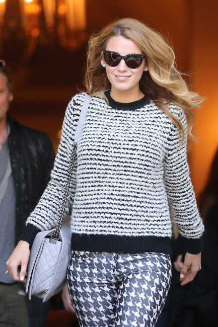 Blake Lively à Paris, le 30 octobre 2013.