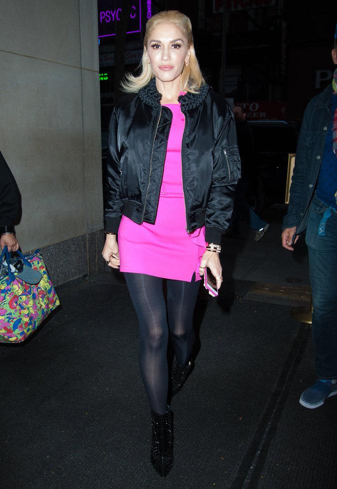 Gwen Stefani et sa veste Bombers noir
