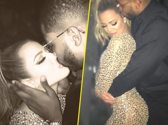 Bonne année 2017 : Khloe Kardashian : paillettes, bisous et gros booty... son réveillon en amoureux avec Tristan Thompson !