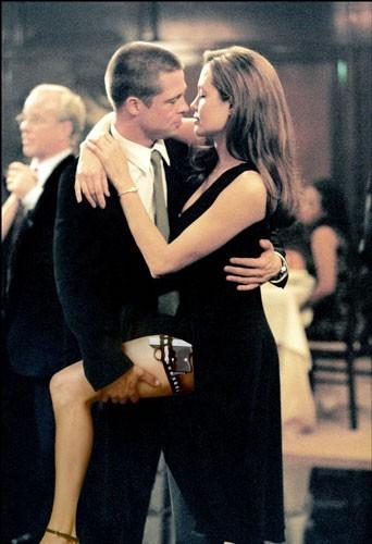 2005 : Brad Pitt et Angelina Jolie sur le tournage du film M&Mrs Smith