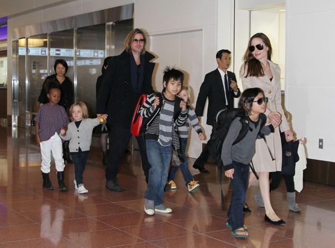 2011 : La famille Jolie-Pitt à l'aéroport de Tokyo