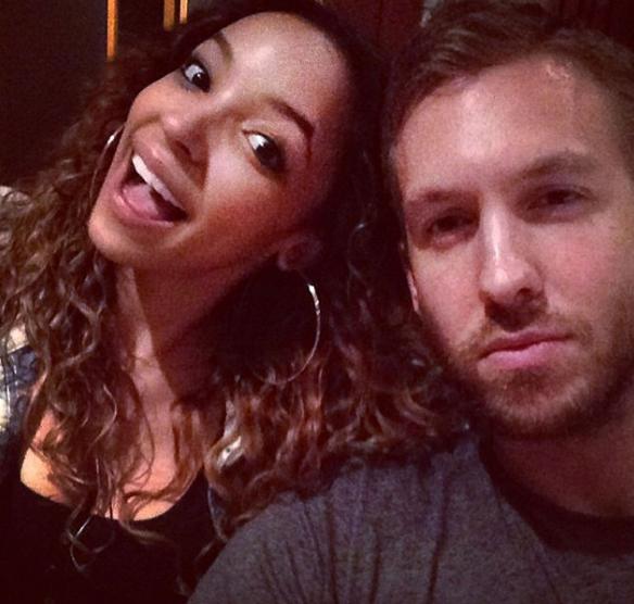 Calvin Harris et Tinashe en studio en 2014
