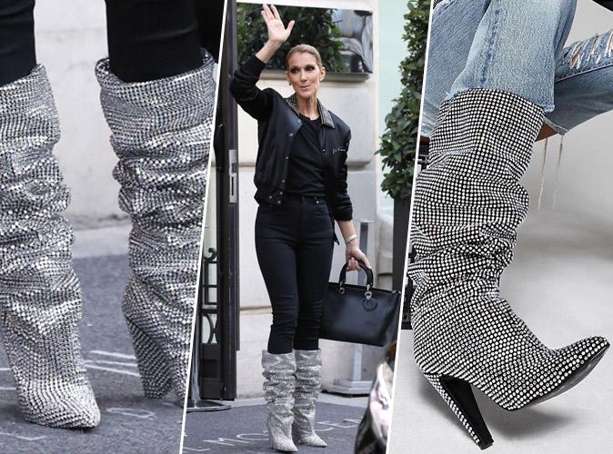 découvrez où shopper les bottes Saint Laurent de Céline Dion en moins cher