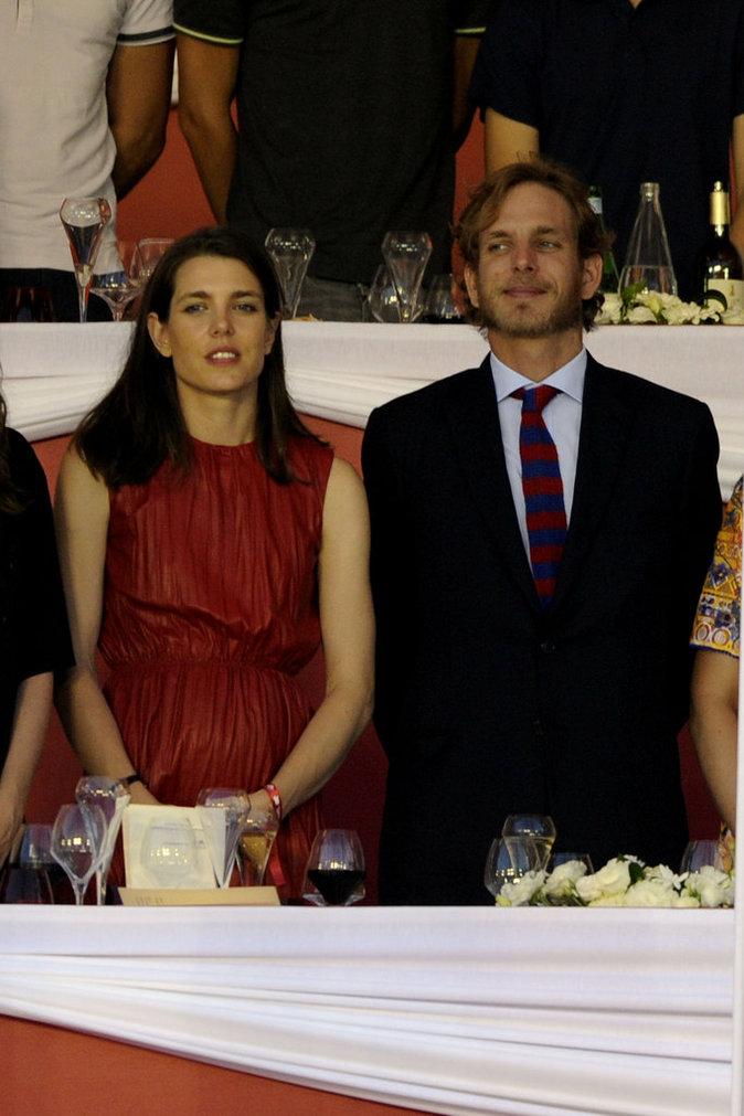 Charlotte Casiraghi et son frère Andrea Casiraghi à Monaco le 26 juin 2016