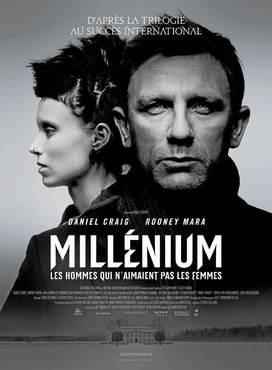 Millénium : Les hommes qui n'aimaient pas les femmes de David Fincher avec Daniel Craig et Rooney Mara (2h38)