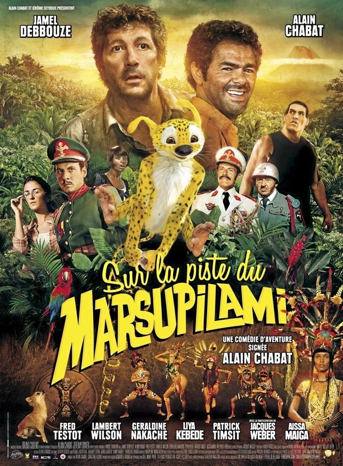 """L'affiche du film d'Alain Chabat """"Sur la piste du Marsupilami"""""""