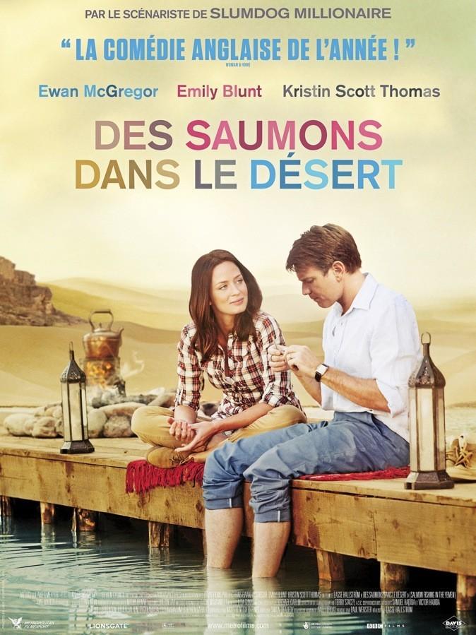 """L'affiche du film : """"Des saumons dans le désert"""" !"""