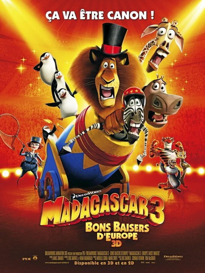 "L'affiche du film ""Madagascar 3"" d'Eric Darnell !"
