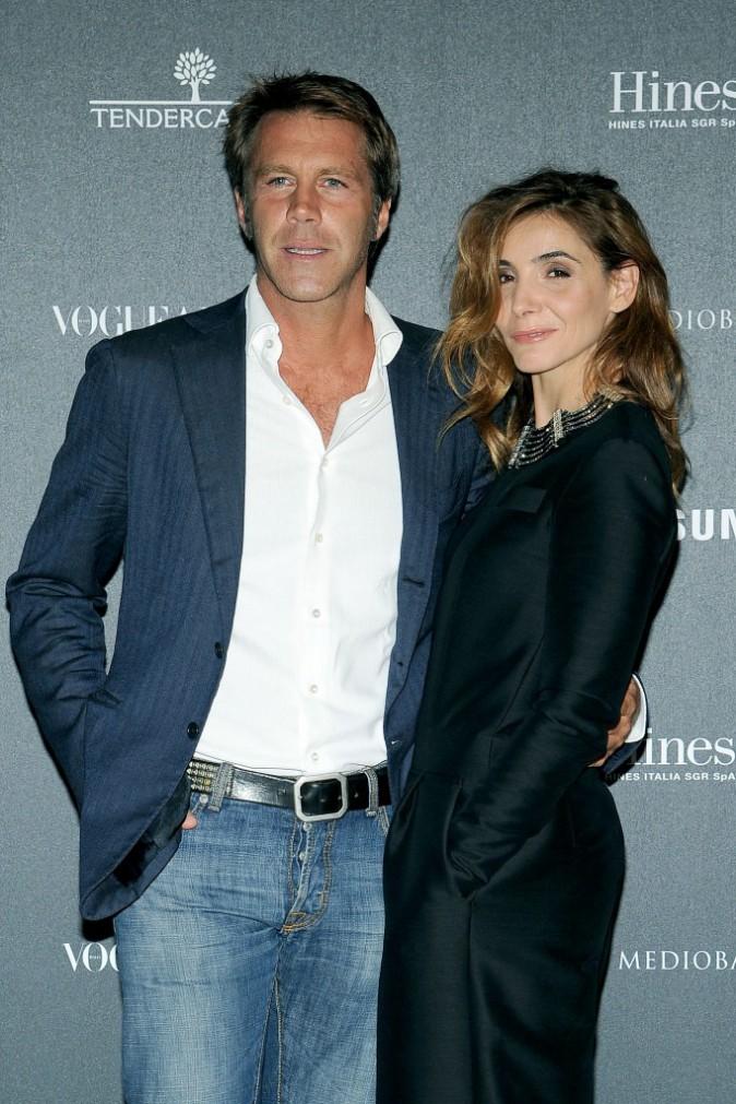 Emmanuel-Philibert de Savoie et Clotilde Courau à Milan le 21 Septembre 2014