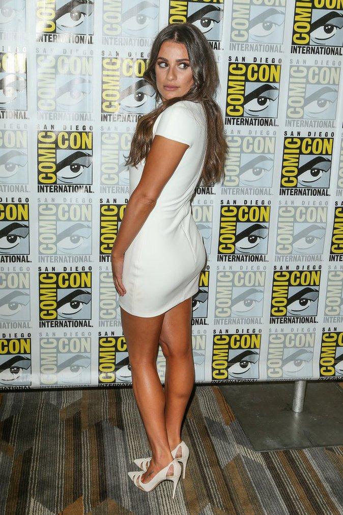 Lea Michele est splendide de face comme de dos