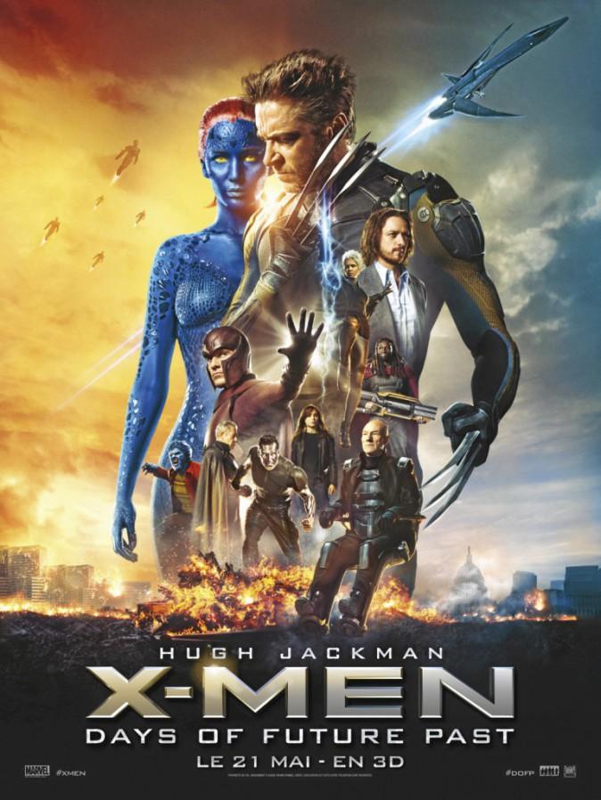 X-Men : Days of Future Past de Bryan Singer avec Hugh Jackman, Michael Fassbender et Jennifer Lawrence (2h10)