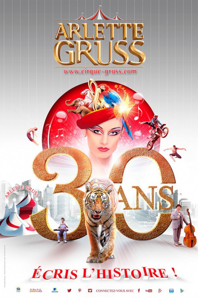 Cirque Arlette Gruss en tournée, dès 14 € pour les 3 à 12 ans, du 6 au 14 juin à Colmar, autres dates sur www.cirque-gruss.com/tournee/les...