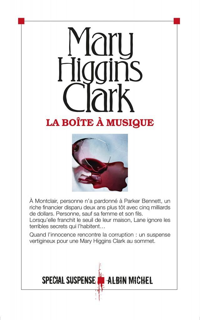 La Boîte à musique, de Mary Higgins Clark, Albin Michel. 22,50 €.