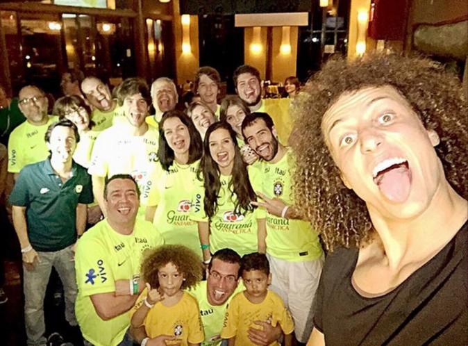 David Luiz avec Murilo et Lyan