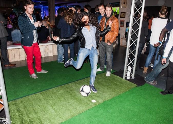 Une petite partie de foot pour fêter ça !