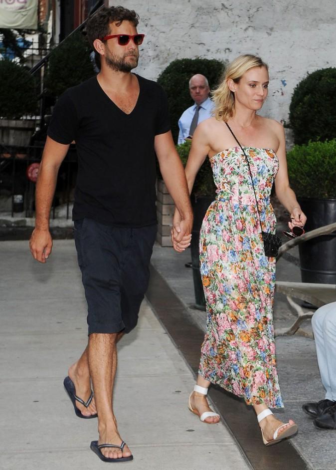 Diane Kruger et Joshua Jackson, habillés à la cool pour la projection du film « The One I Love », le 5 août à New York
