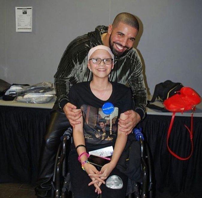 Megan en compagnie de son idole Drake