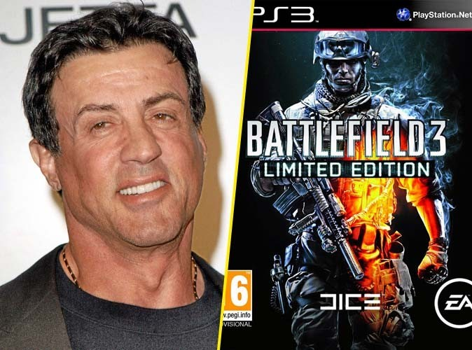 Sylvester Stallone, on lui conseille : Battlefield 3, jeu PS3, Electronic Arts. 59,90 €.