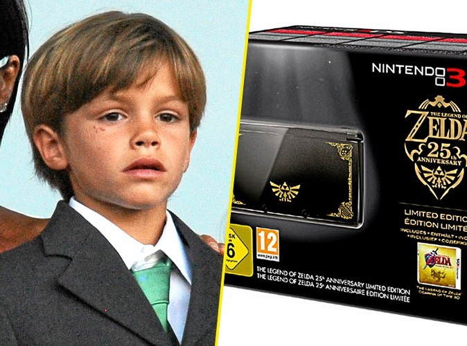 Romeo Beckham, on lui conseille : Pack Collector The Legend of Zelda, Nintendo. 194 €.