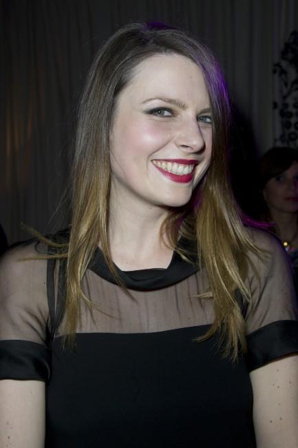Elodie Frégé lors de la soirée de lancement de la marque de lingerie Divamour à Paris, le 18 avril 2013.