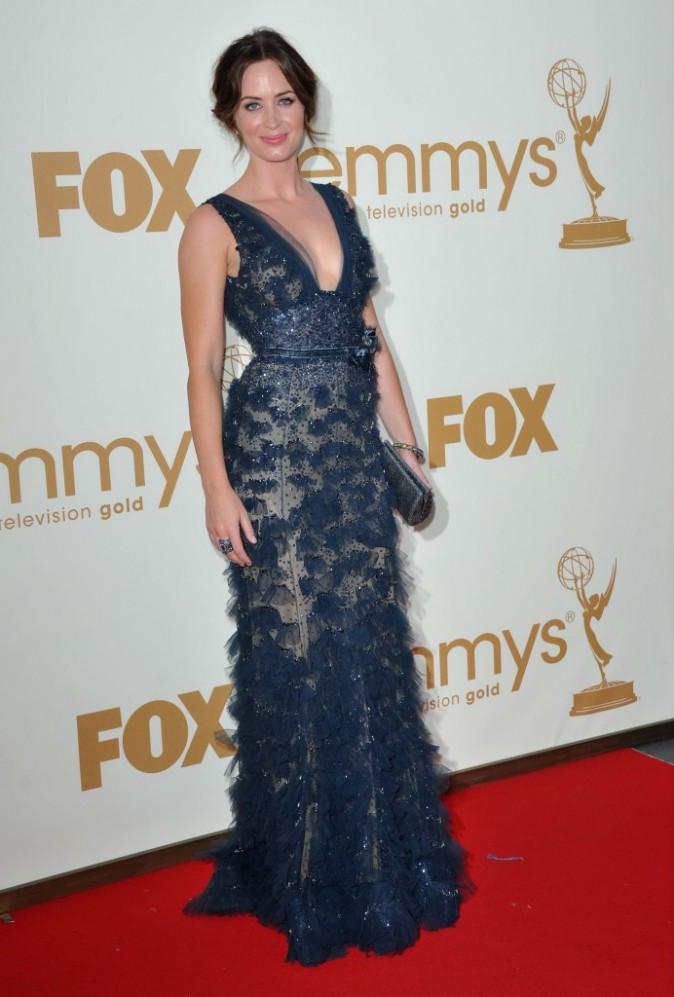 Emily Blunt lors de la cérémonie des Emmy Awards 2011, le 18 septembre 2011 à Los Angeles.